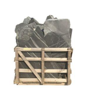 Borga Marmi Pavimenti Opus Incertum ardesia nera gigante