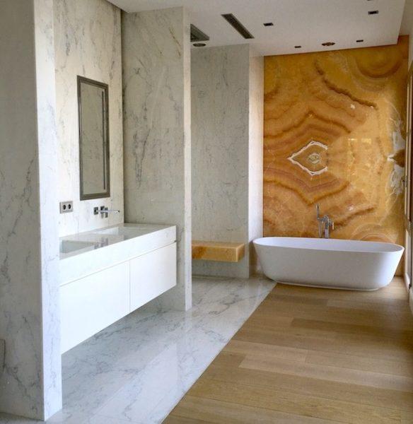 rivestimenti e pavimenti bagni marmo onice borga design